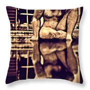 Seeking Lost Dreams In Water - Where Is My Future Throw Pillow