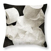 Where Is My Spare Roll Bw V1 Throw Pillow