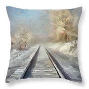 Where Is The Train Throw Pillow