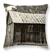 Where March Madness Begins Sepia 2 Throw Pillow
