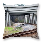 Where Old And New Cross Paths Throw Pillow