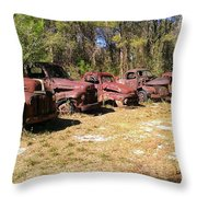 Where Old Vehicles Go Throw Pillow