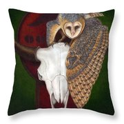 Where Once They Roamed Throw Pillow by Pat Erickson