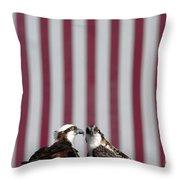 Where Ospreys Dare Throw Pillow