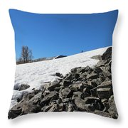 Where Snow Meets Rock Throw Pillow