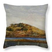 Where The Bay Meets The Hill Throw Pillow