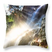 Where The Light Meets The Water Throw Pillow