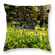 Where The Lupines Grow Throw Pillow
