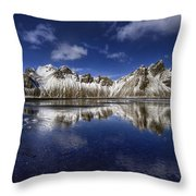 Where The Mountains Meet The Sky Throw Pillow