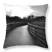 Where The Path Leads You Throw Pillow