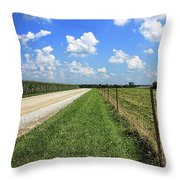 Where The Road May Take You Throw Pillow