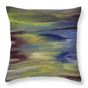 Where The Sky Meets The Water Throw Pillow