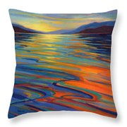 Where The Whales Play 8 Throw Pillow