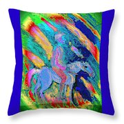 Where To Go I Don't Know I Just Ride Out In The Snow  Throw Pillow