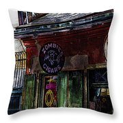 Where Zombies Meets Voodoo  Throw Pillow