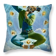 Wherever I Go There I Am Throw Pillow by Sonya Shannon