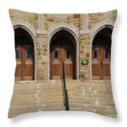Which Door Will You Choose Throw Pillow