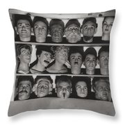 Find The Real Ventriloquist Head Throw Pillow