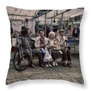 Dead Statue - Who Is Alive Or Dead Throw Pillow