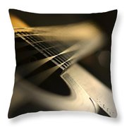 While My Guitar Gently Weeps Throw Pillow