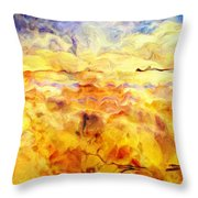 While Taking A Walk Throw Pillow by Jack Zulli