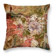 While The Lady Lay Sleeping Throw Pillow