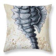 Whimsical Coastal Art Original Sea Horse Painting Sea Fantasy By Megan Throw Pillow