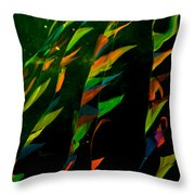 Whimsical Flags Throw Pillow
