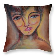 Whimsical Imp Throw Pillow
