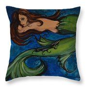 Whimsical Mermaid Throw Pillow