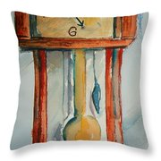 Whimsical Time Piece Throw Pillow