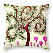 Whimsy Tree Throw Pillow