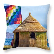 Whiphala Flag On Floating Island Throw Pillow