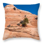 Whipped Rock Throw Pillow