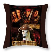Whippet Art - Pirates Of The Caribbean The Curse Of The Black Pearl Movie Poster Throw Pillow
