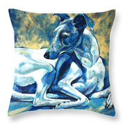Whippet-effects Of Gravity 5 Throw Pillow