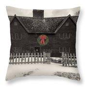 Whipple House Christmas Throw Pillow