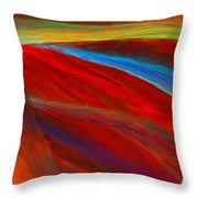 Whirled Colors Throw Pillow
