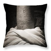 Whirling Dervishes Turban Black And White Throw Pillow