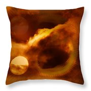 Whirling In The Clouds Throw Pillow