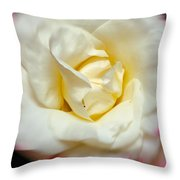 Whirling Rose Throw Pillow