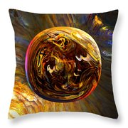 Whirling Wood  Throw Pillow