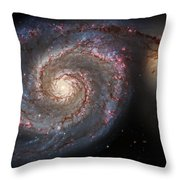 Whirlpool Galaxy 2 Throw Pillow by Jennifer Rondinelli Reilly - Fine Art Photography