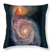 Whirlpool Galaxy In Dust Throw Pillow