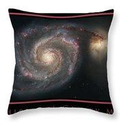 Whirlpool Galaxy M51 Throw Pillow by Adam Mateo Fierro