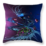 Whirlwind - Abstract Throw Pillow
