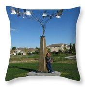 Whirlybird Throw Pillow