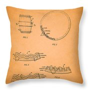 Whiskey Barrel Patent Throw Pillow