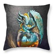 Whiskey Dragon Throw Pillow