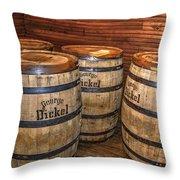 Whisky Barrels Throw Pillow